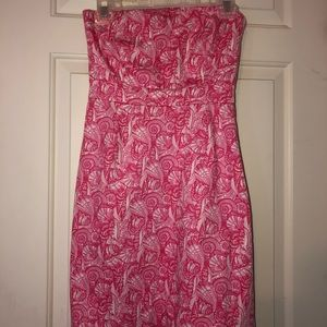 Lily Pulitzer shell strapless dress